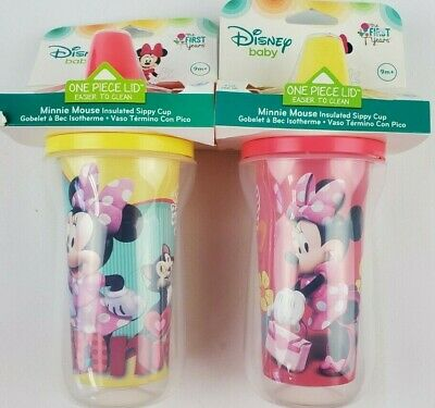 The First Years Disney Minnie Mouse Insulated Sippy Cup 9 Oz Baby Cups 2pk
