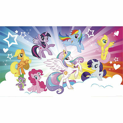 My Little Pony XL Chair Rail Prepasted Mural 6' x 10.5' - by York Wall Coverings