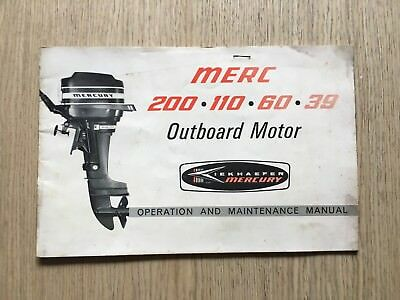 1966 Mercury Outboard Merc 200 110 60 39 Operating And Maintenance Instructions