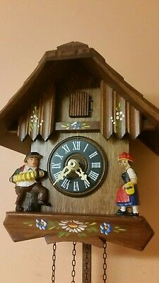 GERMAN  CUCKOO CLOCK / Fully  Servised/NIGHT SHUT OFF --- Perfect Working Order
