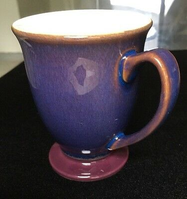 1- Denby Storm Footed Mug, Plum, Unused, In Mint Cond, Satisfaction Guaranteed