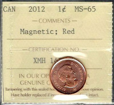 2012 Small Cent ICCS Certified MS-65 RED GEM ** STUNNING Graded Canada Penny