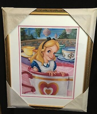 Disney Framed Alice in Wonderland Character of the Month Signed LE  Lithograph