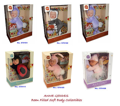 ANNE GEDDES Bean Filled Soft Body Doll Collection | Brand New in Box