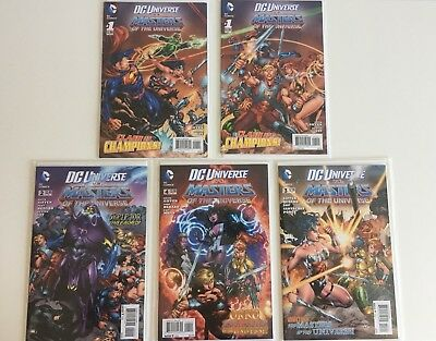 5 Dc Universe Vs Masters Of The Universe He-Man Motu Comics Alternative Covers