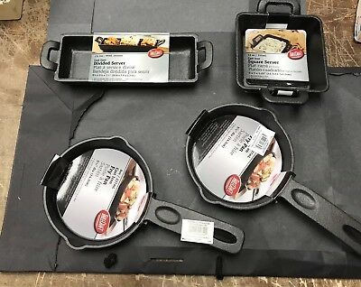 Lot of 4 NEW  Cast Iron Skillets Fry Pans