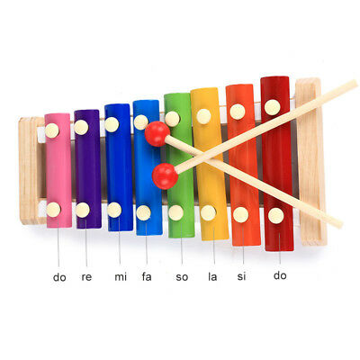 Baby Wooden Xylophone Toy Musical Educational Instrument 8-Note Kids Developme