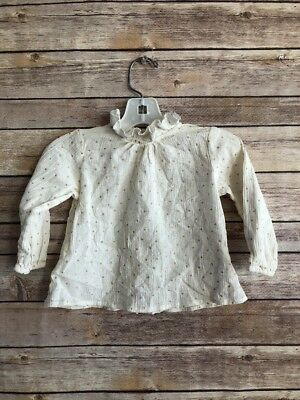 Louis Louise Vintage Paris Baby Long Sleeve Ruffle Neck Size 12 Months
