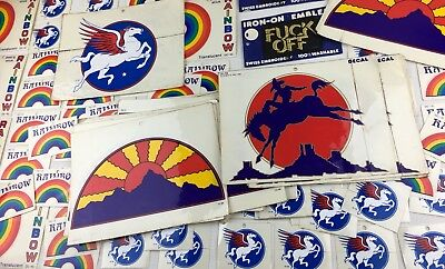 HUGE Lot of 100+ vtg hippie collectible stickers America LGBT Peace Love Rainbow