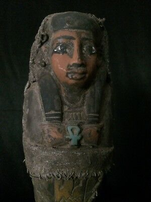 ANCIENT EGYPT Shabti EGYPTIAN Antique STATUE USHABTI Luxor STONE 1458 BCE