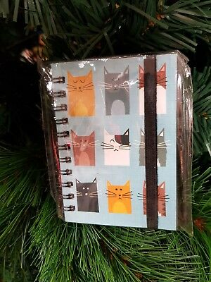 New - Mini Spiral Bound Notebook - Cats - Hardcover / Lined Pages