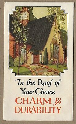 Johns-Manville Slatekote Roofing and Shingles 1920's? Vintage Advertising