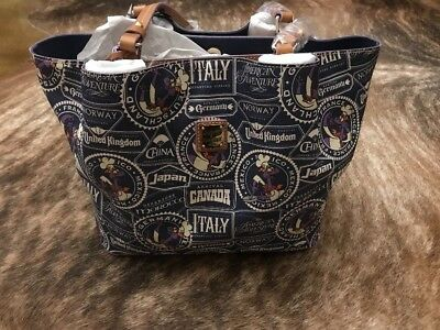 New Dooney & Bourke 2017 Food And Wine Festival Figment Tote Disney Navy
