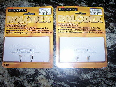 "ROLODEX MOTIVATIONAL REFILL CARDS  2 1/4"" x 4""  Qty 100"