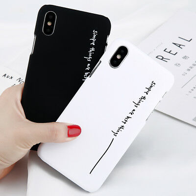 iPhone X 7 8 Plus 6s Cool Letter Matte Hard PC Case Back Cover Case For