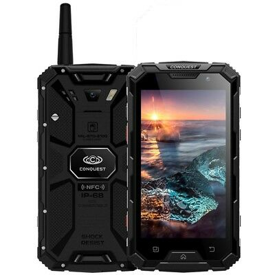 """Conquest S8 3GB+32GB Rugged Phone Touch ID 5.0"""" Android Octa Core 6000mAh NFC IR"""