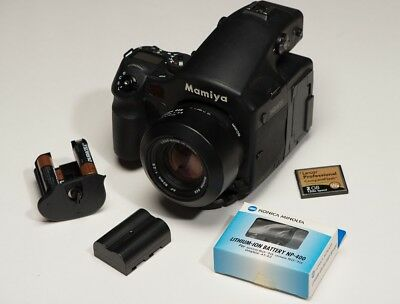 Mamiya 645AFDII with ZD 22mp digital back kit 80mm with box, batteries, charger