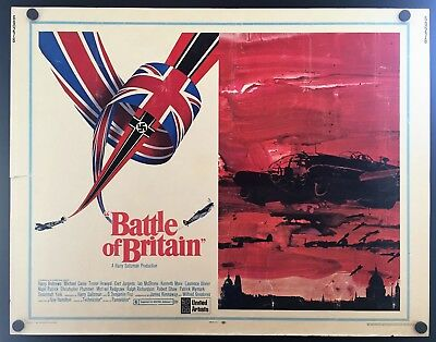 Original 1969 BATTLE OF BRITAIN Half Sheet Movie Poster 22 x 28 CLASSIC WAR