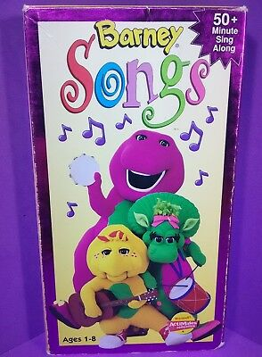 Barney Songs Vhs 1995 Lyons Group And Friends