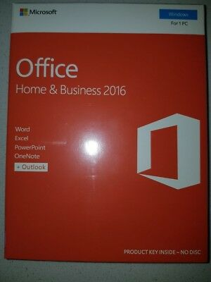 Microsoft Office Home and Business 2016 Windows Retail Pack 1 PC