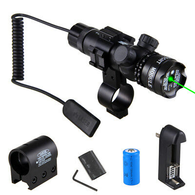 Hunting Green Dot Laser Sight Rifle Gun Scope Rail Mount+Remote Switch For Hunt