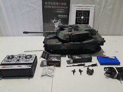 1/20 Full Function Scale Model RC Airsoft Tank M1A2 Abrams Heng Long Fast Ship!!
