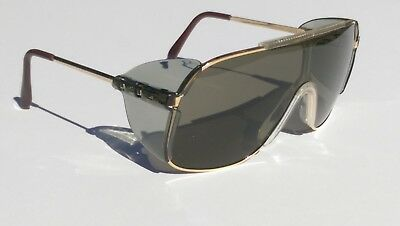 Gold/smoke Bouton Safety glasses. Vintage..From the 90's era