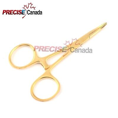 New Mosquito Forceps 3.5'' Curved Full Gold