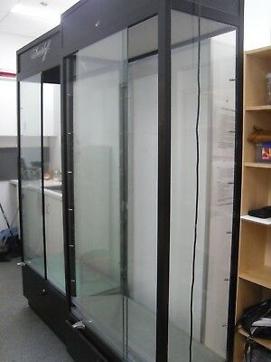 2 x Retail Display Glass Cabinet with shelves and Lighting