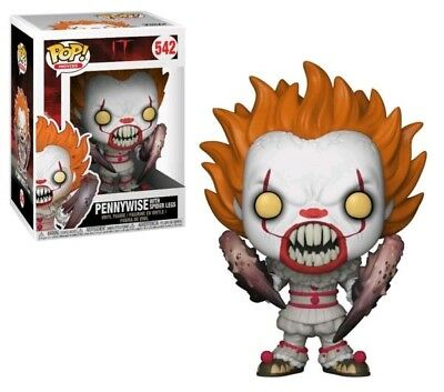 Funko Pop It Pennywise W Boat Chase 472 Green Eyes Box