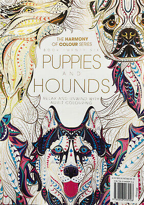 Harmony Of Colour Book 26: PUPPIES AND HOUNDS- Latest Adult Colouring Book