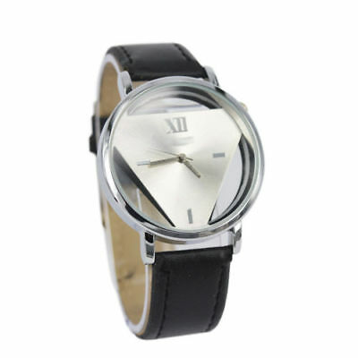 Leather Band Wrist Watch Sport Watches Analog Quartz Stainless Steel Unisex