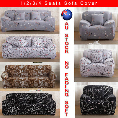 1/2/3/4 Seater Couch Stretch Sofa Seat Lounge Protector Chair Cover Slipcover AU
