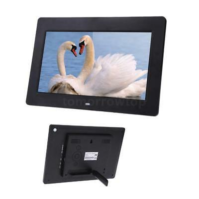 """10"""" HD LCD Digital Photo Frame Picture Clock Movie Player Remote Contorl Black Y"""
