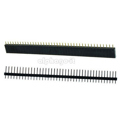 10PC Female&Male 40pin 2.54mm Header Socket Single Row Strip PCB Connector