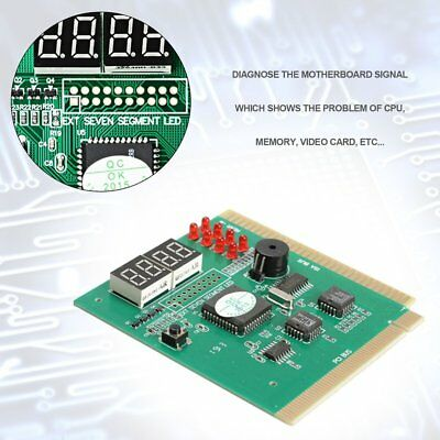 New PCI PC Diagnostic Analyzer 4Digit Card Motherboard Post Tester For ISA/PCI F