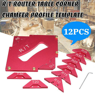 Hand Trimmer Palm Router Trimming Guide Template Woodworking Radius Corner Jig