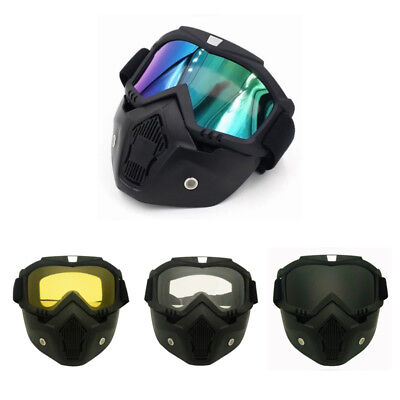 Racing Detachable Modular Motorcycle Helmet Protective Face Mask Shield T5A5