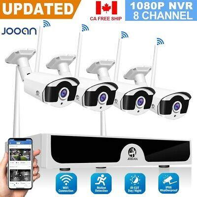 JOOAN 1080P HD 4CH WiFi NVR Wireless Security System Outdoor IP Camera Home CCTV