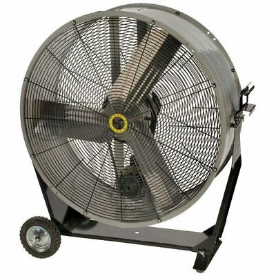 "Airmaster BDMC36C 36"" 1/2HP 115V Portable Belt Drive Floor Fan"