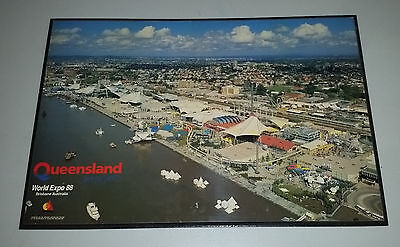 Large EXPO '88 Queensland Brisbane River South Bank 1988 block mount poster
