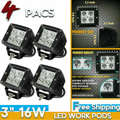 """New 4"""" SQUARE Led Light Assembly for Ford/New Holland 2N, 8N, 9N, Jubilee, NAA"""