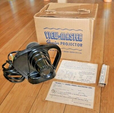 Sawyers Viewmaster Junior Projector Bakelite Rare Boxed With Instructions   A962