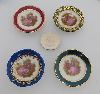 4 Limoges Miniature Plates with Stands & LIMOGES MINIATURE plate with stand - £5.00 | PicClick UK