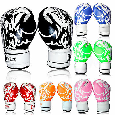 Best Kids Boxing 2oz & 6oz Gloves Junior Mitts Punching Gel Pad Bag Children