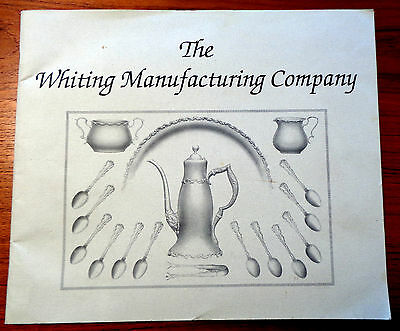 Rare Whiting Manufacturing Company 1896 SC Booklet Reissue of  Sterling Patterns