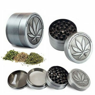 Tobacco Herb Spice Grinder 4 Piece Herbal Alloy Smoke Metal Chromium Crusher