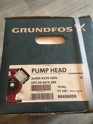 Grundfos UPS D 50 - 60 Pump Head Circulator 415v 96406008