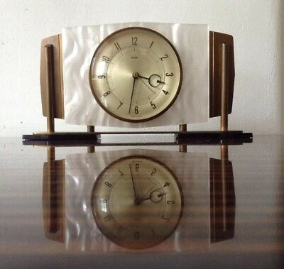 "Retro Mantle Clock Battery Operated ""METAMEC"" Mantel Clock Made in England"