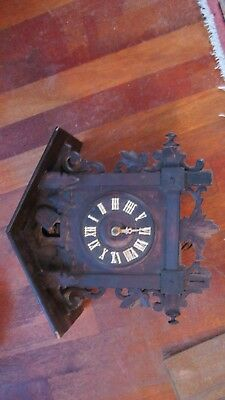 Large Antique Early Co0koo clock for Restoration